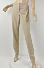 JIL SANDER Heather Beige Wool & Cashmere Flannel Slim Tapered Dress Pants 42 10