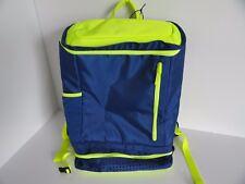 Staples Back2Back SCHOOL BAG Computer & Tech Backpack - BLUE / LIME