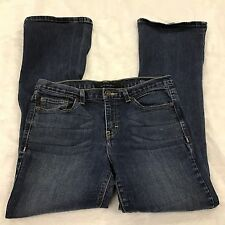 Calvin Klein Womens Jeans Flare dark wash sz 8 x 32 pant