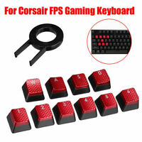 10x Backlit Keys Caps Set For Corsair FPS Gaming Keyboard MX Key Switch + Puller
