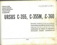 URSUS C-355 C-355M C-360 TRACTOR C355 C355M C360 PARTS MANUAL