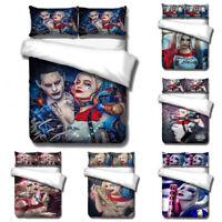 US/EU/AU Size Suicide Squad Harley Quinn 3PCs Bedding Set Joker 3D Duvet Cover