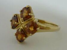 Stunning Cambodian Golden Zircon & 9K Gold Ring Size N 1/2