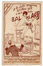 1926 Bal Des Arts ARTIST MODEL Risque Vintage French Postcard ARTIST SIGNED Jean