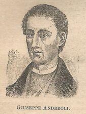 A1024 Giuseppe Andreoli - Stampa Antica del 1911 - Xilografia
