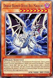 YU-GI-OH! LDS2-IT005  Drago Bianco Occhi Blu Maligno  comune 1°ediz. ita yugioh