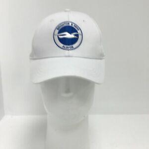 Brighton & Hove Albion FC Cap One Size White Cotton Front Peak Team Logo 141061