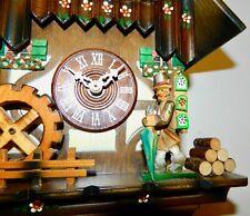 AMIMATED Musical CHALET W/ Clock Peddler & Water Wheel, GERMANY CUCKOO CLOCK
