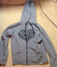 Roxy Girl Jacket Sweatshirt Gray Sz Small Zipup