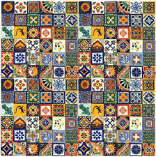 100 Mexican Talavera Handmade 4x4 tiles decorative Assorted, 2-5 days delivery