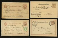 AUSTRIA 1876-1919 STATIONERY COLLECTION...USED...11 CARDS