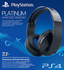 Playstation 4 PS4 Sony Wireless Headset Platinum 7.1 Virtual Surround IT IMPORT