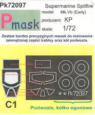 SPITFIRE MK.V B (early) PAINTING MASK TO KOVOZAVODY PROSTEJOV #72097 1/72 PMASK