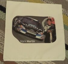 "Vintage Nascar MARK MARTIN #6 Pillow Case Cover Sham NEW 18"" Square Zipper"