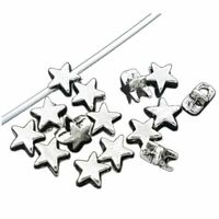 200 Silver Tone Charm Spacer Beads 6x6mm -Jewellery Making Findings DIY S9R8