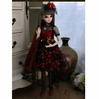 Full Set 1/3 Ball Jointed Girl BJD Doll With Full Set Accessories Clothes Puppe