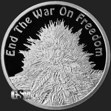 2018 Silver Shield 1 oz Silver Proof End The War On Freedom Marijuana DD #16