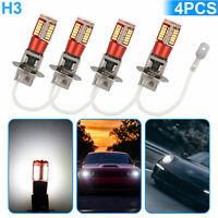 4x H3 LED Fog Driving DRL Light Bulbs Conversion Kit Super Bright 6000K White