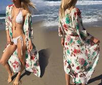 AU SELLER Oversize Cotton Kaftan Cardigan Long Top Beach Kimono Cover Up sw089-1