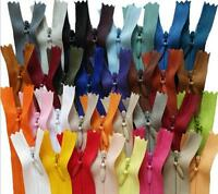 wholesale 5/10/50/100pcs mix Nylon Invisible Soft  Coil Zipper Sewing 22inch 17C