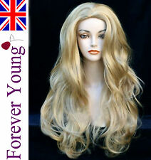 Wigs Long Wavy Blonde Wig Ladies Fashion Full Wig Forever Young UK Wigs