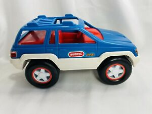 Rare Vintage 1994 Buddy L Jeep Wrangler Push Along Toy Truck Car Red White Blue