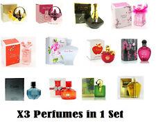 x 3 SAFFRON Womens Perfume Eau De Parfum (100ml) Xmas Fragrance Gift EDU Set