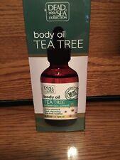 NIB DEAD SEA COLLECTION BODY OIL TEA TREE