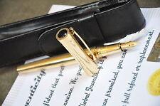 24K Gold plated metal fountain pen nib medium black Classic BAOER 3035