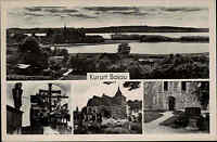 Bosau Schleswig Holstein s/w 4-fach- Mehrbild AK ~1940 Plöner See Region Plön