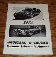 1973 Ford Mustang & Mercury Cougar Vacuum Schematic Manual 73