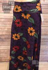 Maxi Skirt LuLaRoe XXS Purple Jewel tone Floral Maxi Nice Cottony Feel