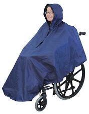 Silla De Ruedas Poncho Cubierta Impermeable Con Capota Discapacidad Rain Mac/