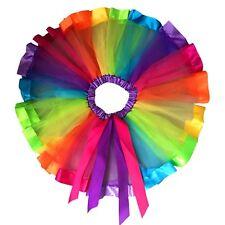 Fashion Kids Baby Girls Princess Rainbow Tulle Tutu Skirt Party Dancewear Bow