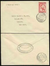GOLD COAST 1952 FIRST DAY COVER FOSO...BLANEY + CO ASIN PRASO ENVELOPE