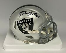 Josh Jacobs Signed Oakland Raiders Mini Helmet Beckett BAS WITNESSED COA AUTO