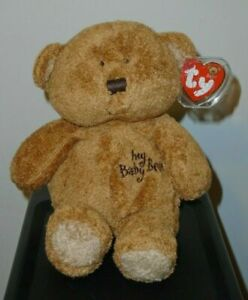 "Ty Baby TY / Pluffies - MY BABY BEAR (Brown) - Plush Toy (8"") MINT with MINT TAG"