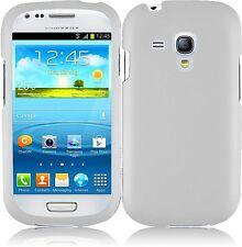 Hard Rubberized Case for Samsung Galaxy S3 Mini - White
