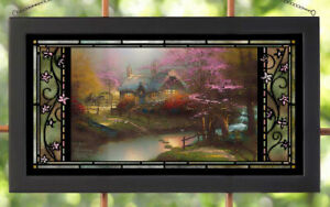 Thomas Kinkade Stepping Stone Cottage Stained Glass Art. Wild Wings