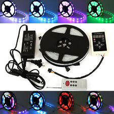 5M Magic Dream Color 5050 RGB 6803 IC IP67 Waterproof LED Strip Light Remote kit