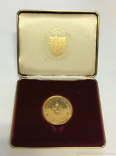 1984 Canada Papal Visit Gold Plated Medal in Box
