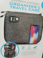 Electronic accessories organizer bag & Travel Case Durable Water Resistant...