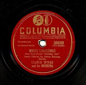CHARLIE SPIVAK and his Orchestra on 1942 Columbia 36649 - White Christmas