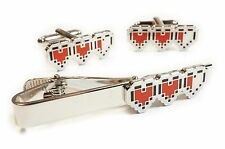 Legend of Zelda HEART HEALTH LIFE CANNISTER Suit Wedding Tie Bar Clip Cufflinks