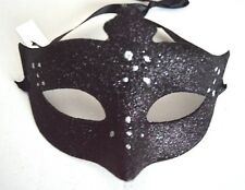 NEW Black glitter and silver dot Masquerade Mask Eye Prom Gothic halloween