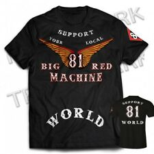 01 Hells Angels Big Red Machine Anniversary Wings  Support81 T-Shirt (M - 6XL)