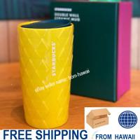 Double Wall CERAMIC PINEAPPLE CUP/TUMBLER Gift Box Starbucks HAWAII 2020 Studded
