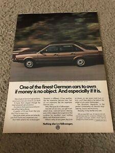Vintage 1983 VOLKSWAGEN VW QUANTUM CAR Print Ad BROWN 1980s RARE
