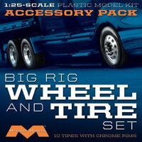 Moebius 1/25 Big Rig Wheel and Tire Set (10) 1010 MOE1010