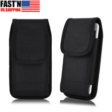 Vertical Cell Phone Holster Pouch Nylon Wallet Case Universal w/Belt Clip Loop